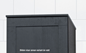 Svedbergs Topplade Højskab Forma 30x20 Hvid