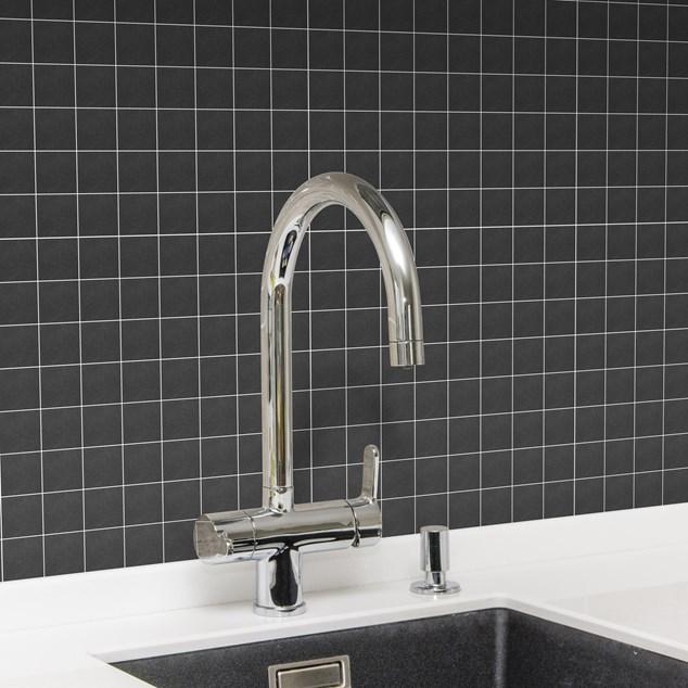 Arredo Klinker Ardesia Black Mosaic 47x47 mm (300x300)