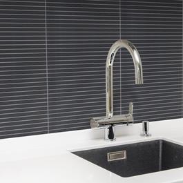 Arredo Klinker Bamboo Black Mosaic 14x300 mm Line