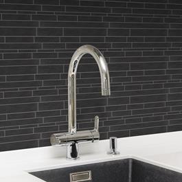 Arredo Klinker Ardesia Black Mosaic 15x300 mm (300x300) Brick