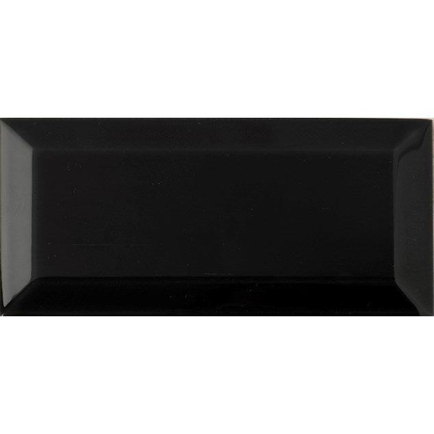 Arredo Metroflise Biselado  Sort Facet-kant - Blank - 75x150 mm
