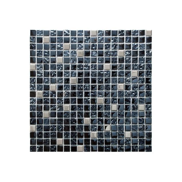 Arredo Krystalmosaik Blank 15x15x8 mm Exclusive Stone Black/Steel