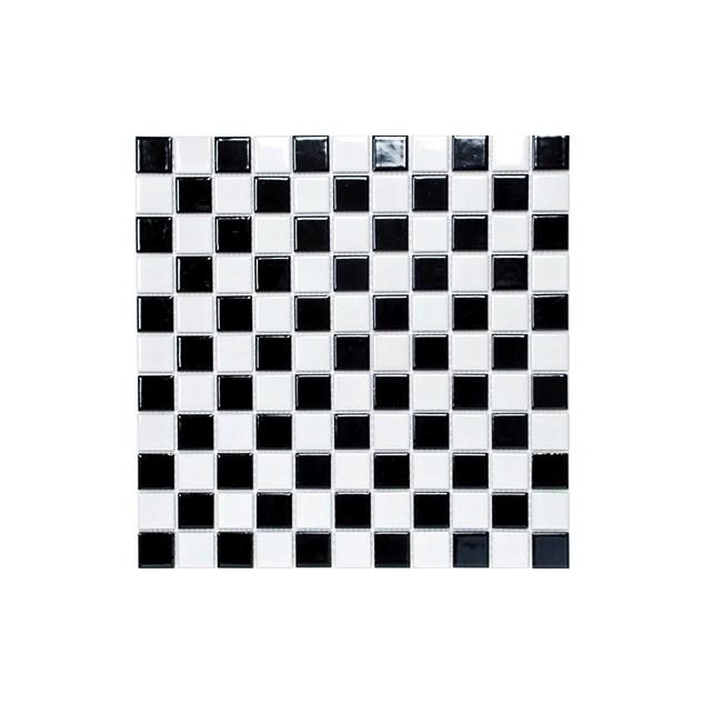 Arredo Klinkermosaik Titan Mix Black/White Blank 25x25 mm (300x300)