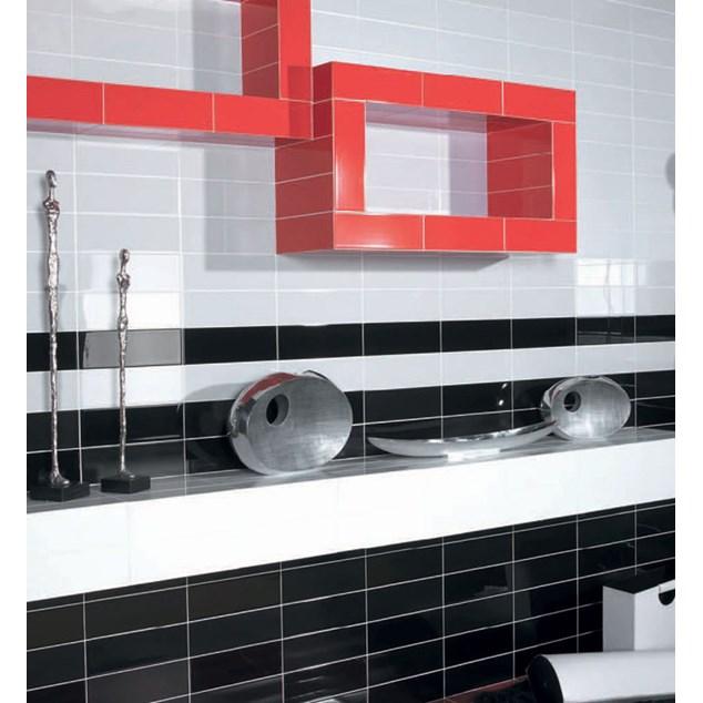 Arredo Vægflise Color Negro Blank 100x300 mm