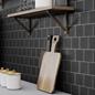 Arredo Klinker Fojs Collection Black glossy 98x98 mm