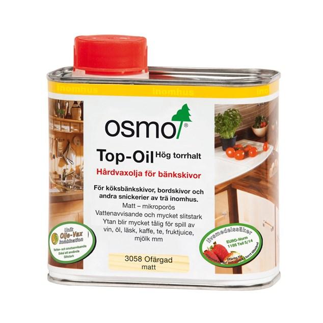 Osmo Hårdvoksolie 3058 Top-Oil til bordplader 05 L