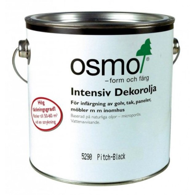 Osmo 5290 Intensiv Dekor Olie Sort 0,75 Liter