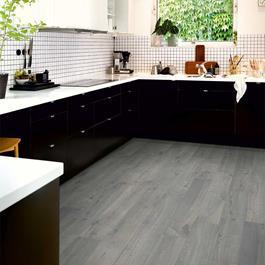 Laminatgulv Pergo Modern Plank 4V Sensation Urban Grey Oak 1-stav Living Expression