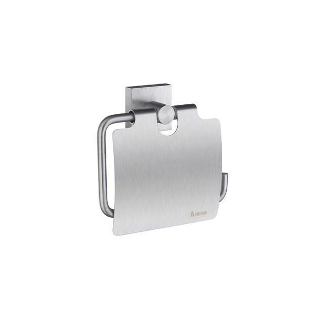 Smedbo House Toiletpapirholder Med Låg - Børstet Krom