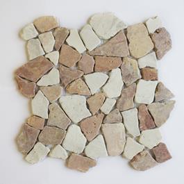 Arredo Stone Cobble Mix Red/Ivory (300x300mm)