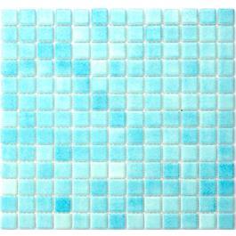 Alttoglass Glasmosaik Azul Celest 25x25 mm