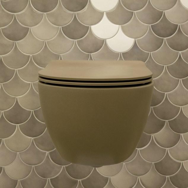Flaminia App Fango Væghængt Toiletskål Goclean inkl. Toiletsæde