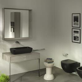 Flaminia App Grafite Væghængt Toiletskål Goclean inkl.toiletsæde