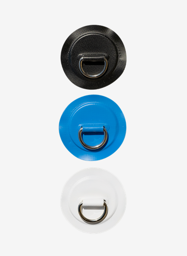 Metal D-ring for attachment to Air SUP
