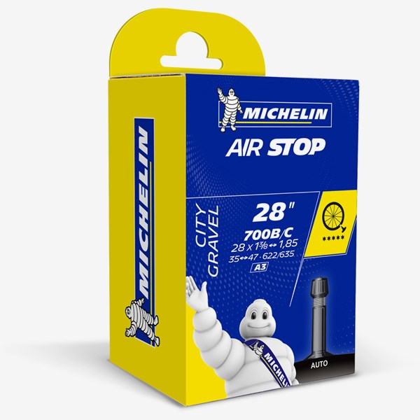 Michelin Cykelslang Airstop A3 35/47- 622/635 Bilventil 34mm