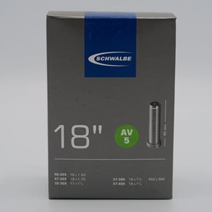 Schwalbe Cykelslang AV5 18 tum 40/37-355/400 bilventil