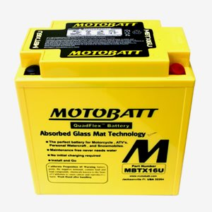 Batteri Motobatt MBTX16U Factory Sealed