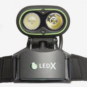 LedX Belysning Kaa 2 000 Komplett Kit Med Hjälmfäste