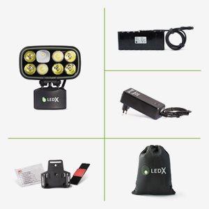 LedX Belysning Cobra 6500 X-Pand Standard Kit+Lampfäste Hjälm+Stort Batteri