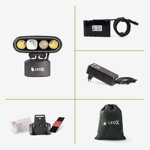 LedX Belysning Mamba 4000 X-pand+Hjälmfäste+Batteri