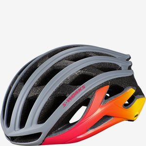 Cykelhjälm Specialized S-Works Prevail II MIPS ANGi Cool Grey/Acid Pink/Golden Yellow