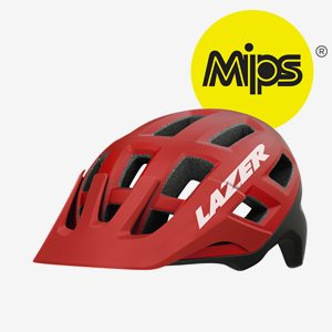 Cykelhjälm Lazer Coyote MIPS Red Black
