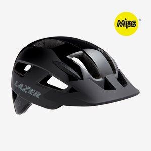 Cykelhjälm Lazer Gekko MIPS Black, grönt spänne