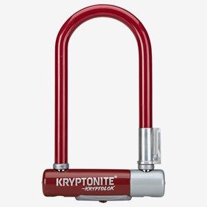 Kryptonite BygellåsKryptolok 2 Mini7 Med Ramfäste Röd