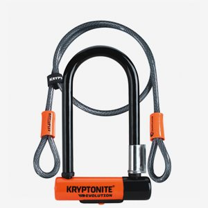 Kryptonite Bygellås med kabel Evo Mini 7 8.3cmx17.8 cm 120cm kabel