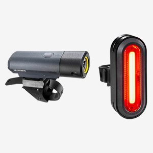 Kryptonite Cykelbelysning Alley F-650 & Avenue R-75 USB To See Set
