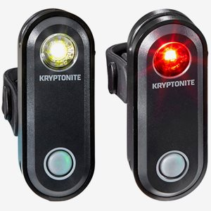 Kryptonite Cykelbelysning Avenue F-65 & R-30 S USB 1 LED set