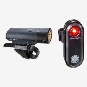Kryptonite Cykelbelysning Street F-300 & Avenu Basic USB To See Set