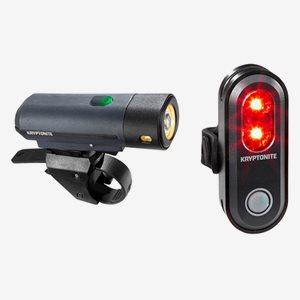 Kryptonite Cykelbelysning Street F-500 & Avenu Medium USB To See Set