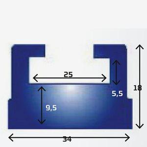 Sno-X Slides Yamaha142cm grafit