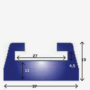Sno-X Slides Ski-Doo 142cm grafit