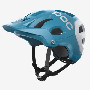 POC Cykelhjälm Tectal Race SPIN Blå/Vit Matt