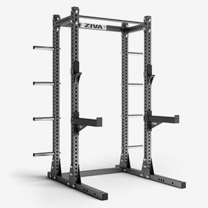 Apiro Sport Ställning skivstänger Half Rack Storage Includes J-Cup Pair + Safety Arm Pair