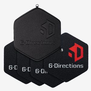 6-Directions Träningsredskap 6D Sliding Pro. 4 Sliders with Carry Bag