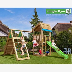 Jungle Gym Klätterställning Home Lektorn Komplett Inkl. Rutschkana