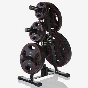 Gymstick Ställning viktskivor Rack För Olympic Weight Plates