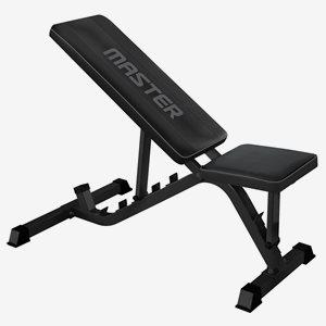 Master Fitness Träningsbänk Träningsbänk Black