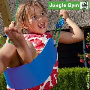 Jungle Gym Klätterställning Sling Swing Lättviktsgunga, Komplett Kit