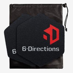 6-Directions Träningsredskap 6D Sliding. 2 Sliders with Carry Bag