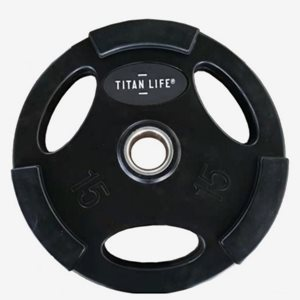 Titan LIFE Viktskiva Gummerad Weight Disc 5 kg. Rubber. Ø50mm. Black