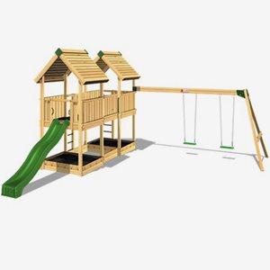 Hy Land Klätterställning Hy-Land Projekt 4 + Swing Modul