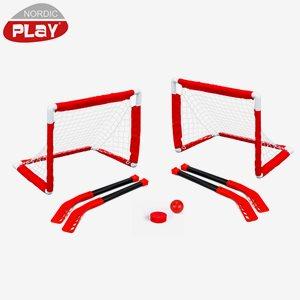 Nordic Play Ishockey Nordic Play Mini Hockey-Set Inkl. 2 Mål Och 4 Klubbor