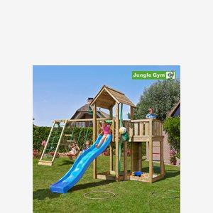 Jungle Gym Mansion lektorn komplett inkl. Climb Modul Xtra och rutschkana, Klätt