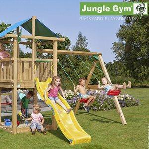 Jungle Gym Klätterställning Hut Lektorn Komplett Inkl. Rutschkana