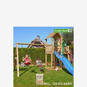 Jungle Gym Mansion lektorn komplett inkl. Swing Modul Xtra, sand och r