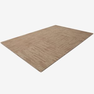Finnlo Underlagsmatta Puzzle Mat Parquet Floor Design (Light Brown)